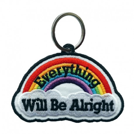 Porta chaves bordado, Everything Will Be Alright!