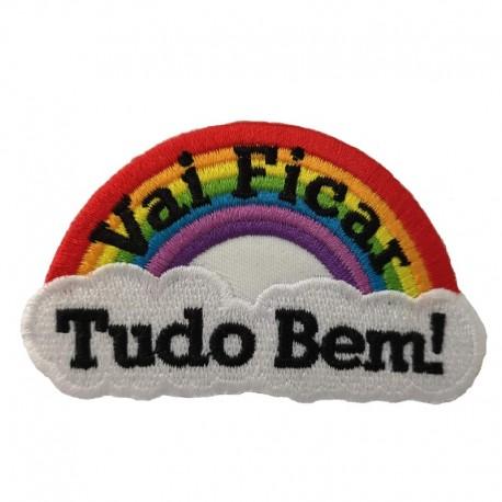 Embroidered sticker, Vai Ficar Tudo Bem!